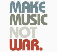 Make Music Not War (Retro) Kids Clothes