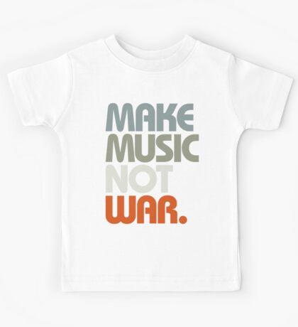 Make Music Not War (Retro) Kids Tee