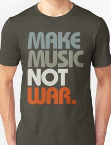 Make Music Not War (Retro) T-Shirt