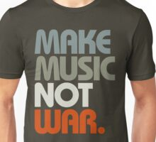 Make Music Not War (Retro) Unisex T-Shirt