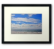 Catch Those Pelicans! Framed Print