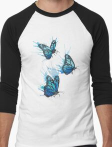 Watercolour Butterflies Men's Baseball ¾ T-Shirt