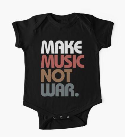 Make Music Not War (Antique) One Piece - Short Sleeve
