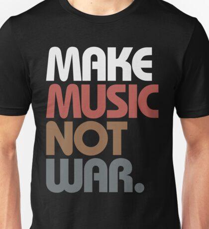 Make Music Not War (Antique) Unisex T-Shirt