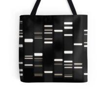 DNA Art White on Black Tote Bag