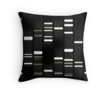 DNA Art White on Black Throw Pillow