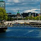 Foot Bridges of the River Liffey by Yukondick