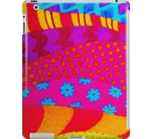 THE HIPSTER - Cool Colorful Vibrant Abstract Mixed Media Trendy Fabric Patterns Illustration iPad Case/Skin