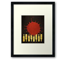 wine poster, grungy style Framed Print