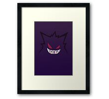 Nightmare. [Gengar, Pokemon] Framed Print
