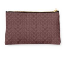 Vintage Victorian Brown and Gold Damask Pattern Studio Pouch