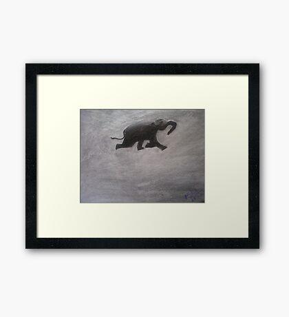 Swimming Elephant Framed Print