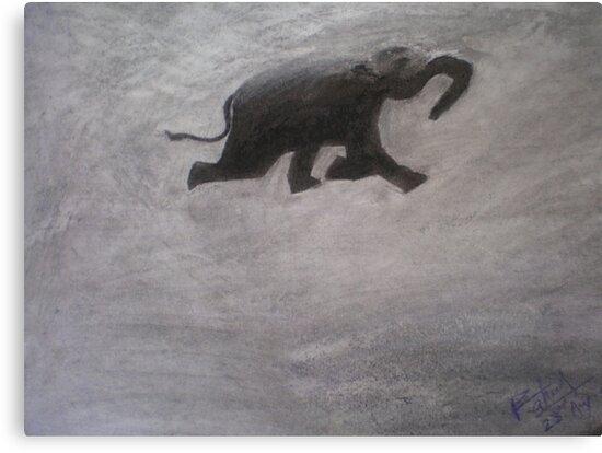 Swimming Elephant by Rahul Kapoor