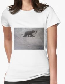 Swimming Elephant Womens Fitted T-Shirt