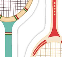 Vintage Tennis Rackets Sticker
