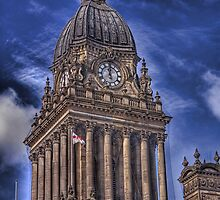Leeds Town Hall Clock (HDR) by Tim Waters