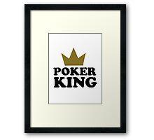 Poker king casino Framed Print