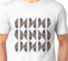 Colorful Hand Drawn Pattern Feathers Unisex T-Shirt