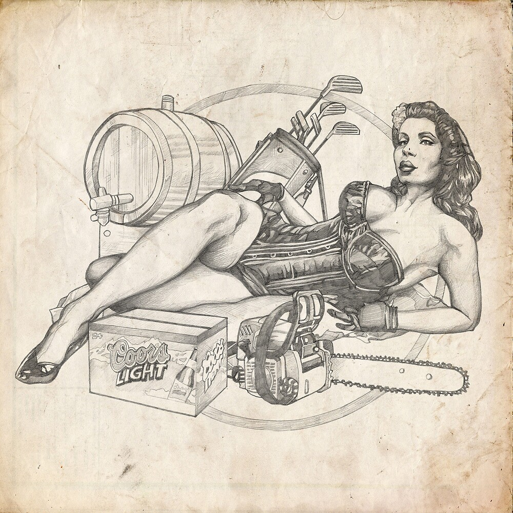 Father's Day Pinup Sketch by Brent Schreiber