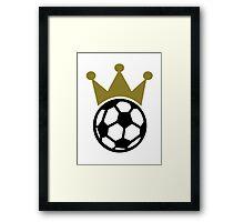 Soccer king crown Framed Print