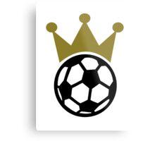 Soccer king crown Metal Print