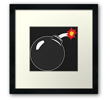 COMIC BOOK: BOMB Framed Print