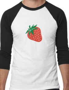 Red strawberry Men's Baseball ¾ T-Shirt