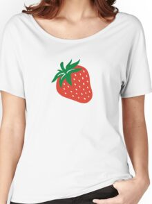 Red strawberry Women's Relaxed Fit T-Shirt