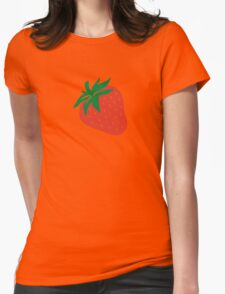 Red strawberry Womens Fitted T-Shirt