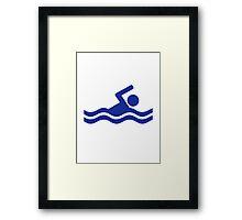 Swimming swimmer Framed Print
