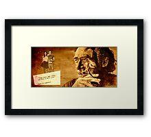 Charles Bukowski - love version Framed Print
