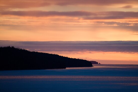 Inside Passage - Sunset Canada Coast by Michael  Moss