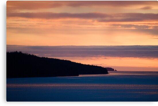 Inside Passage - Sunset Canada Coast by Michael  Moss