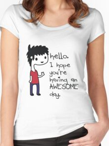 Awesome Day Women's Fitted Scoop T-Shirt