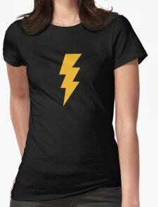 Yellow Flash Lightning Bolt Womens Fitted T-Shirt