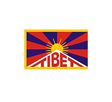 Tibet Flag Photographic Print