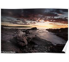 Storm Sunset Poster