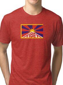 Tibet Flag Tri-blend T-Shirt