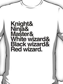 Final Fantasy Job Upgrade (black text) T-Shirt