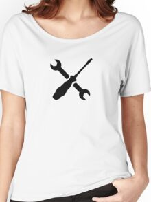 Crossed Screwdriver wrench Women's Relaxed Fit T-Shirt