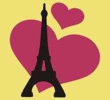 Eiffel Tower Paris One Piece - Short Sleeve