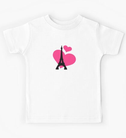 Eiffel Tower Paris Kids Tee
