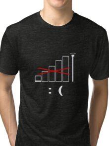 No signal, no bars. Unhappy. Tri-blend T-Shirt