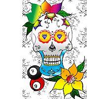 #Caveira #desenho #adobephotoshopcs6 #adobeillustrator #caveiramexicana #tattoos #trabalho #cores #psicodélicotrance Photographic Print
