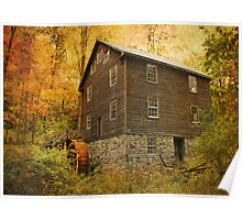 Autumn At Millbrook 8 - The Grist Mill Poster