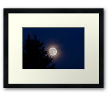 Lunar Luminance Framed Print