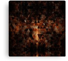 Gold beam in geometric sparkly universe Canvas Print