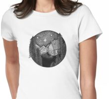 woodland home I Womens Fitted T-Shirt