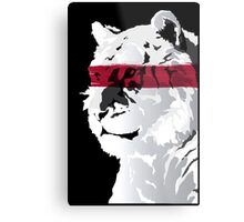 Wild in Red Metal Print