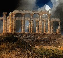 Temple of Poseidon by Lois  Bryan